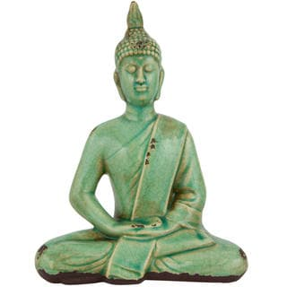 Handmade Thai 9-inch Sitting Buddha Statue (China)