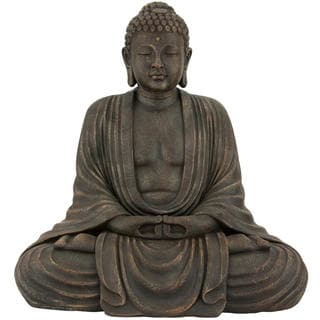 Japanese 2.5-foot Tall Sitting Buddha Statue (China)