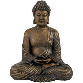 Handmade Japanese 12-inch Sitting Buddha Statue (China)