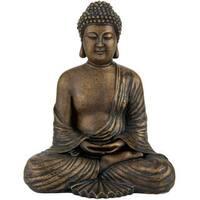 Handmade Japanese 12-inch Sitting Buddha Statue (China)