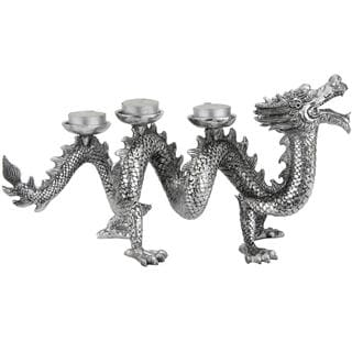 Plated Dragon 14-inch Statue (China)