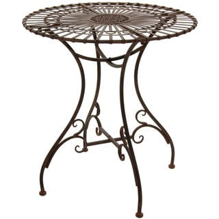 Rustic Rust Patina Garden Table (China)