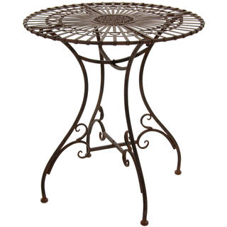 Handmade Maison Rouge Wendell Rustic Rust Patina Garden Table (China)