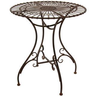 Handmade Rustic Rust Patina Garden Table (China)