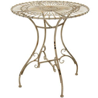 Handmade Rustic Distressed White Garden Table (China)