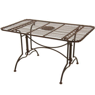 Rustic Rust Patina Rectangular Garden Table (China)