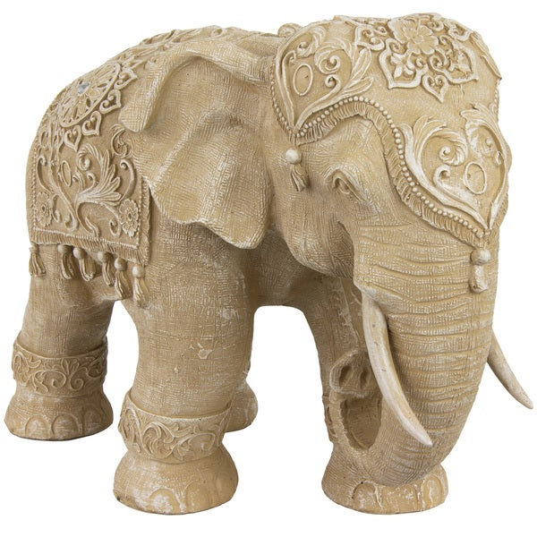 Awesome Handmade Standing Elephant 20 Inch Statue (China)