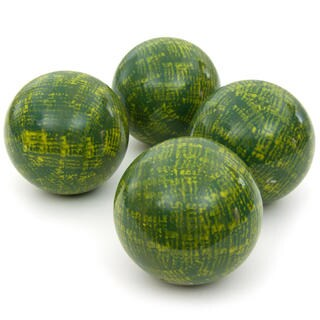 Handmade Green 4-inch Porcelain Ball Set (China)
