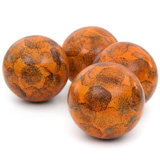 Sponged Light Orange 4-inch Porcelain Ball Set (China)