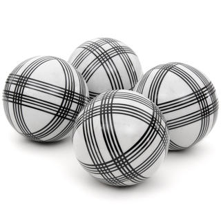 Black Stripes 4-inch Porcelain Ball Set (China)