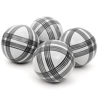 Handmade Black Stripes 4-inch Porcelain Ball Set (China)