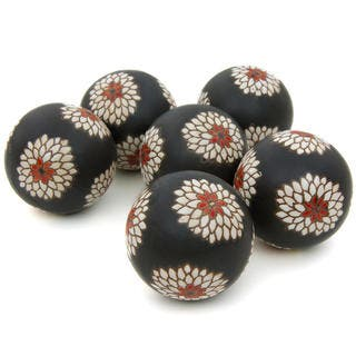 White Flowers Porcelain 3-inch Ball Set (China)|https://ak1.ostkcdn.com/images/products/8672807/P15929207.jpg?impolicy=medium
