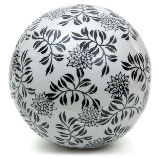 Handmade Black Vines 6-inch Decorative Porcelain Ball (China)