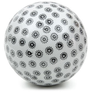 Handmade White with Black Stars 6-inch Decorative Porcelain Ball (China)