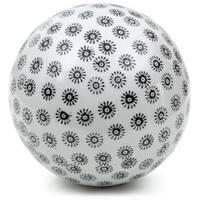 Handmade White with Black Stars 6-inch Decorative Porcelain Ball (China)