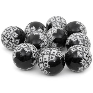 Handmade Black and White 3-inch Porcelain Ball Set (China)