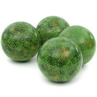 Handmade Sponged Green 4-inch Porcelain Ball Set (China)