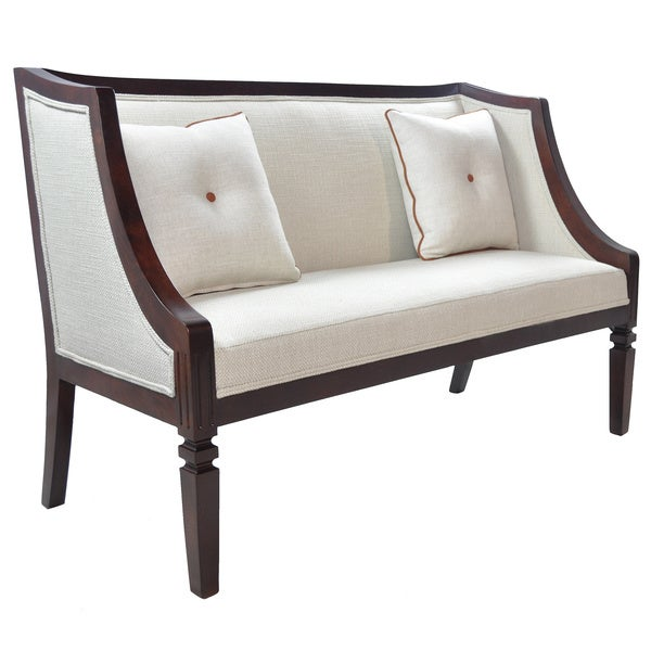 Celine Off White Chenille Fabric Loveseat Free Shipping Today 15929254