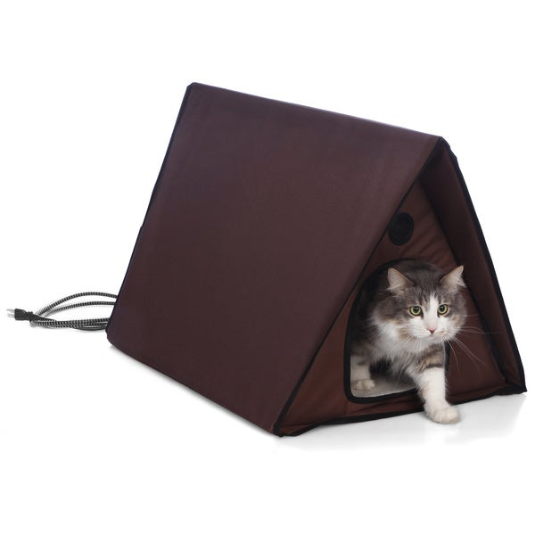 K Amp H Pet Products Heated Multiple Cat A Frame Outdoor Kitty