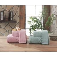 Fairfield Luxury Jacquard Turkish Cotton 3-piece Towel Set