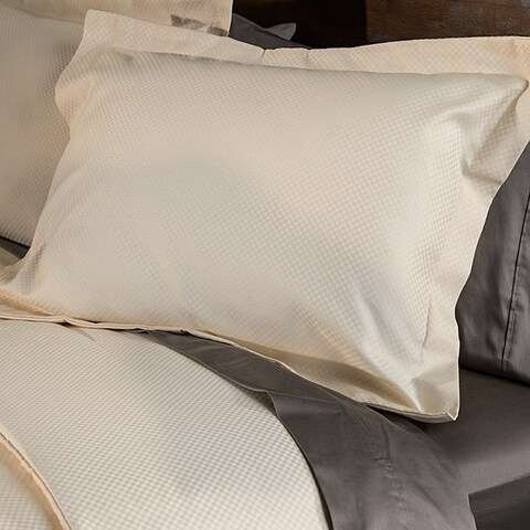 Superior 800 Thread Count Micro Checkered Cotton Blend Duvet Cover Set
