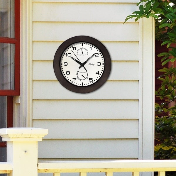Free Shipping Equity by La Crosse 29005 Outdoor Thermometer and Humidity Wall..