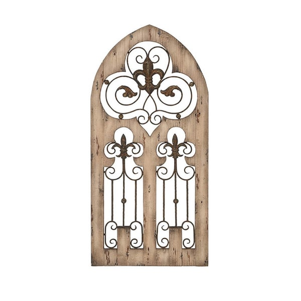 Wood Metal Wall Decor Brilliant Enchanting Antique Wood Metal Wall Decor  Free Shipping Today Inspiration Design