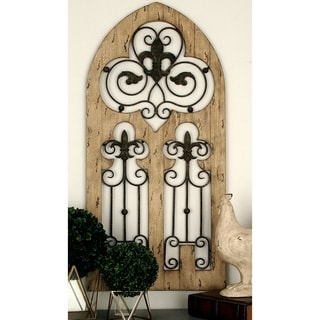 Enchanting Antique Wood Metal Wall Decor