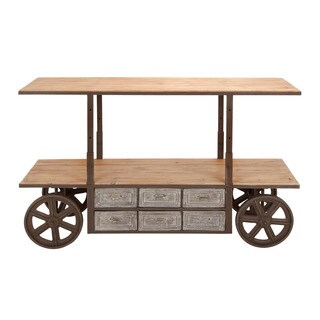 Reclaim Metal Wood Storage Cart