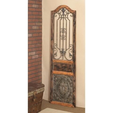 Vintage Style Wood Metal Wall Decor
