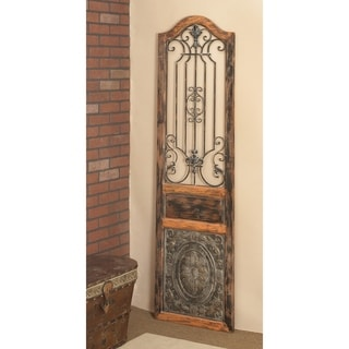 Vintage Style Wood And Metal Wall Decor