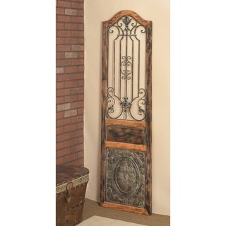 Vintage Style Wood Metal Wall Decor