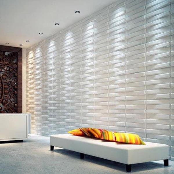 3d Basket Weave Brick Wall Panels Pack Of 10 Off White Overstock 8674537