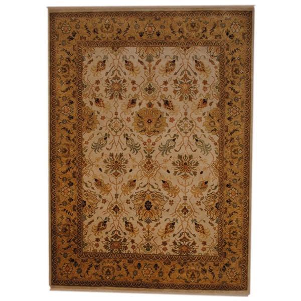Handmade Herat Oriental Indo Vegetable Dye Wool Rug - 7' x 9'6 (India)