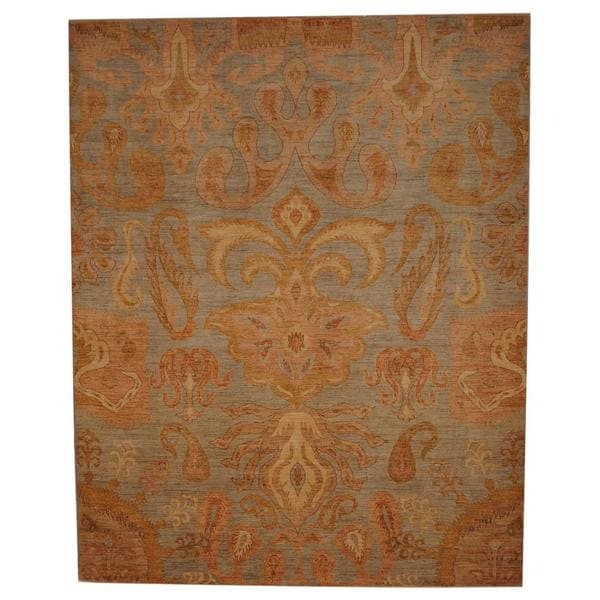 Herat Oriental Indo Hand-knotted Ikat Wool Rug - 8'1 x 10'2