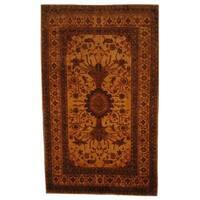 Herat Oriental Afghan Hand-knotted Vegetable Dye Wool Rug (7' x 11'9) - 7' x 11'9