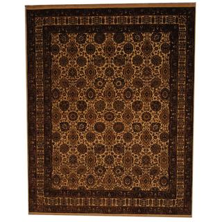 Herat Oriental Indo Hand-knotted Mahal Ivory/ Rust Wool Rug (8' x 10')
