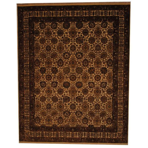 Herat Oriental Indo Hand-knotted Mahal Wool Rug - 8' x 10'