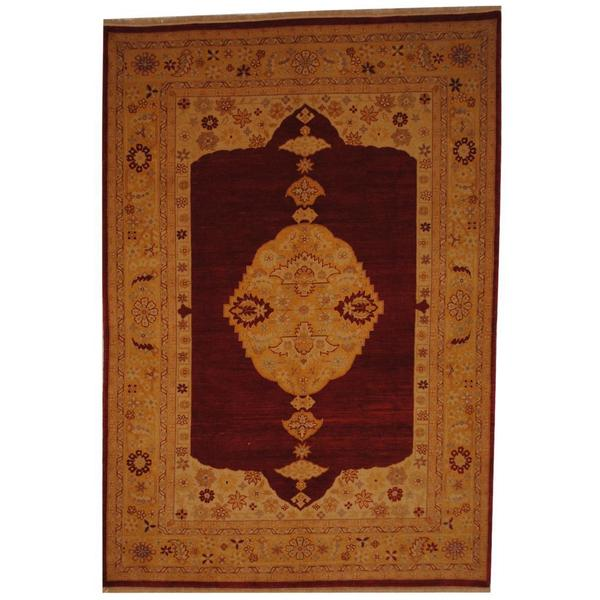 Herat Oriental Afghan Hand-knotted Vegetable Dye Wool Rug (7' x 10'1) - 7' x 10'1