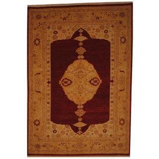 Herat Oriental Afghan Hand-knotted Vegetable Dye Wool Rug (7' x 10'1)