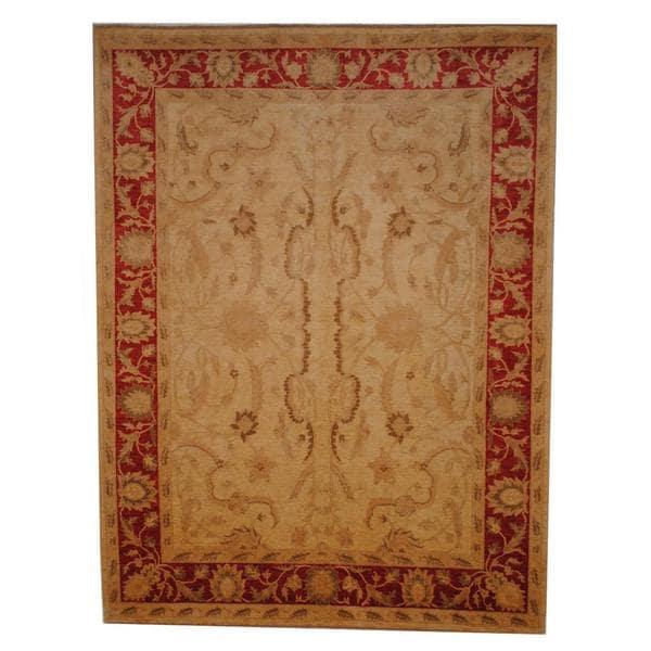 Herat Oriental Afghan Hand-knotted Vegetable Dye Wool Rug (7'10 x 10') - 7'10 x 10'