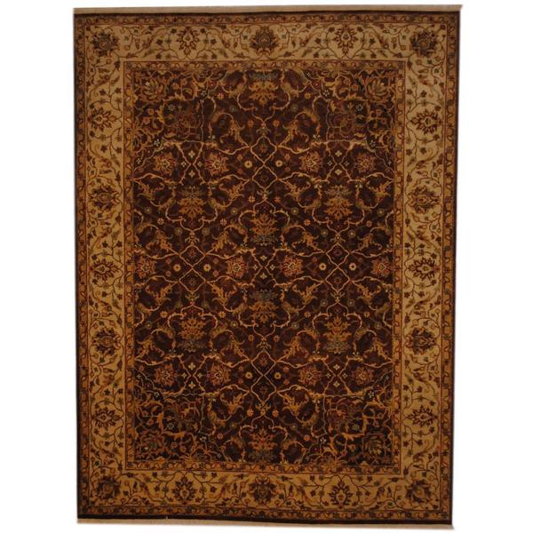 Herat Oriental Indo Hand-knotted Vegetable Dye Wool Rug (7' x 9'5) - 7' x 9'5