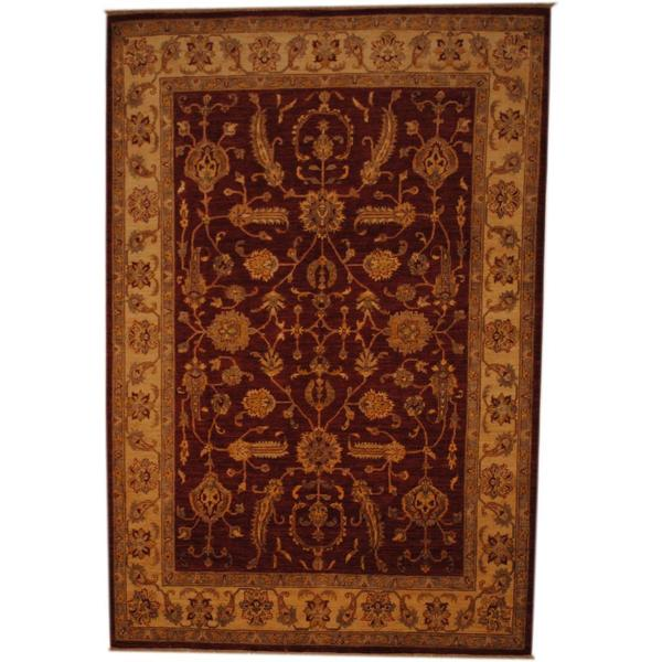 Herat Oriental Afghan Hand-knotted Vegetable Dye Wool Rug - 6'8 x 10'