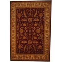 Herat Oriental Afghan Hand-knotted Vegetable Dye Wool Rug (6'8 x 10') - 6'8 x 10'