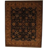 Herat Oriental Indo Hand-knotted Vegetable Dye Wool Rug (8' x 10') - 8' x 10'