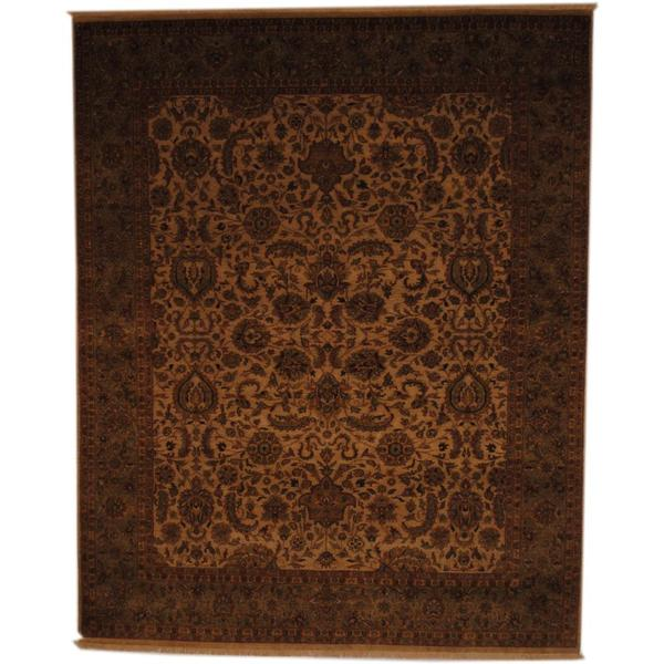 Herat Oriental Indo Hand-knotted Vegetable Dye Wool Rug (8' x 9'9) - 8' x 9'9