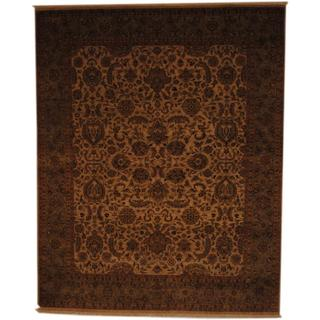 Herat Oriental Indo Hand-knotted Vegetable Dye Wool Rug (8' x 9'9)