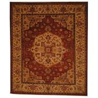 Herat Oriental Afghan Hand-knotted Vegetable Dye Wool Rug - 8' x 9'10