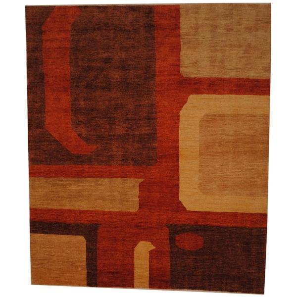Handmade Herat Oriental Afghan Vegetable Dye Wool Rug - 7'10 x 9'4 (Afghanistan)
