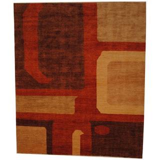Herat Oriental Afghan Hand-knotted Vegetable Dye Wool Rug (7'10 x 9'4)